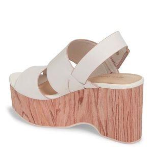Kelsi Dagger Brooklyn Nude Wedge Sandals